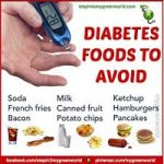 WHAT FOODS TYPES SHOULD DIABETIC PATIENT AVOID?