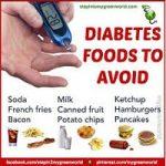 WHAT FOODS TYPES SHOULD DIABETIC PATIENT AVOID?